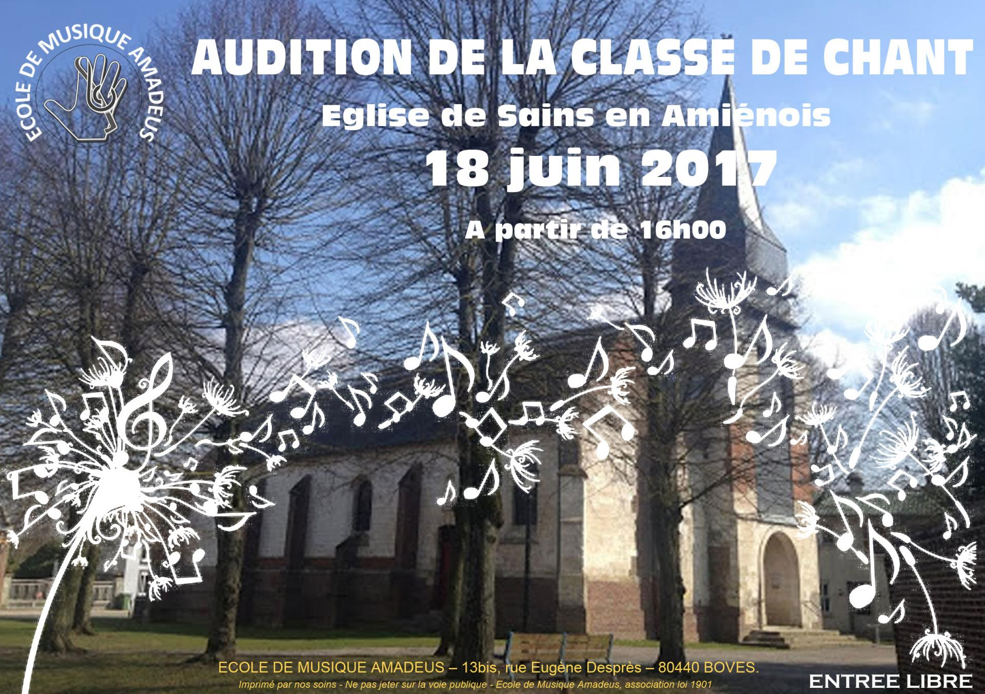 Affiche audition chant