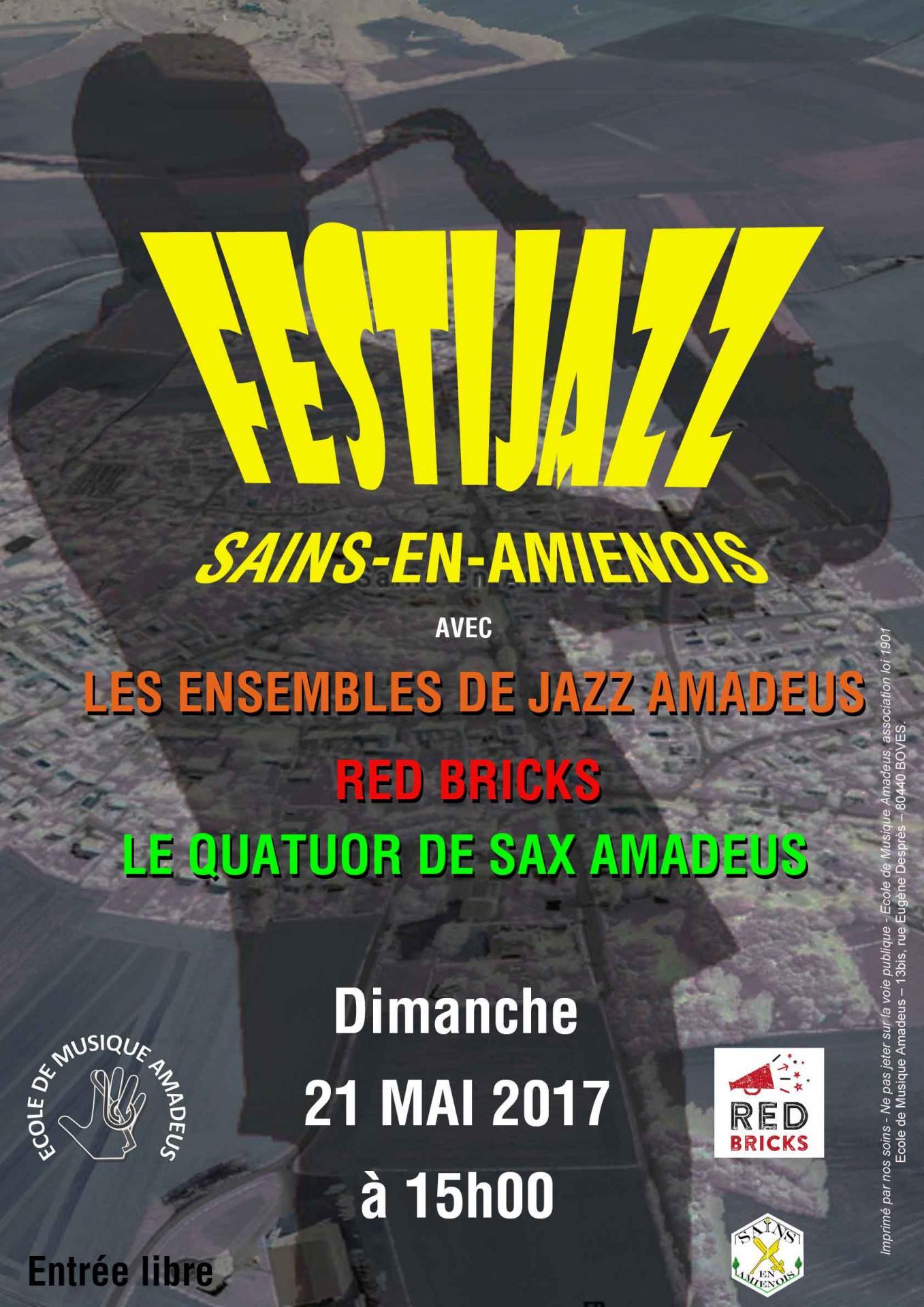 Affiche festi jazz sains