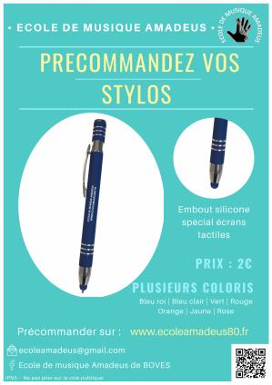 Affiche précommande stylo